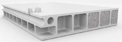 Wabenstruktur- 3D-Druck mit Holzpartikel