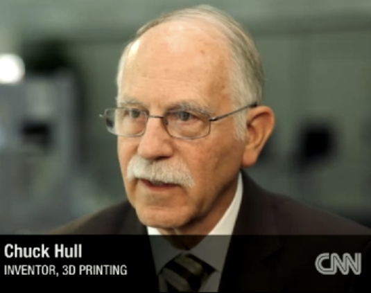 Cnn bericht the night chuck hull invented 3d printing for When was 3d printing invented