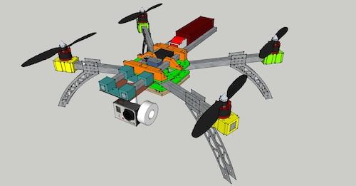 quadcopter aus dem 3d drucker. Black Bedroom Furniture Sets. Home Design Ideas