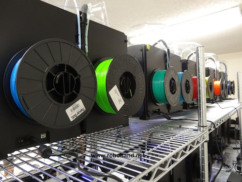Makerbot_Print_Farm_Robohand_2