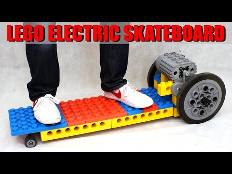 LEGO Electric Skateboard made from GIANT 3D Printed Bricks #2 | XRobots | James Bruton