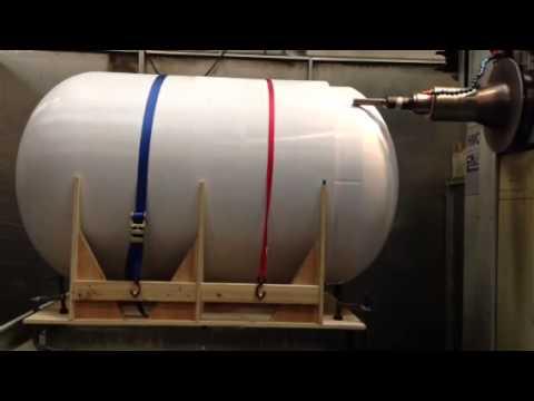 Machining 3D Printed Tank Simulation