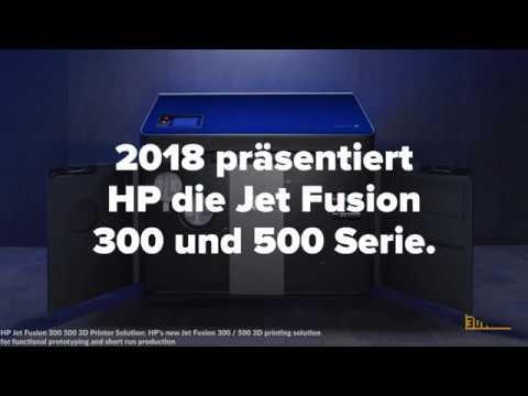HP stellt 3D-Farbdrucker vor: Jet Fusion 300 und 500 Serie
