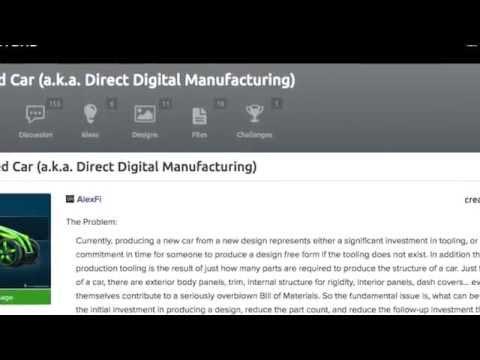 3D Printed Car Design Challenge Details