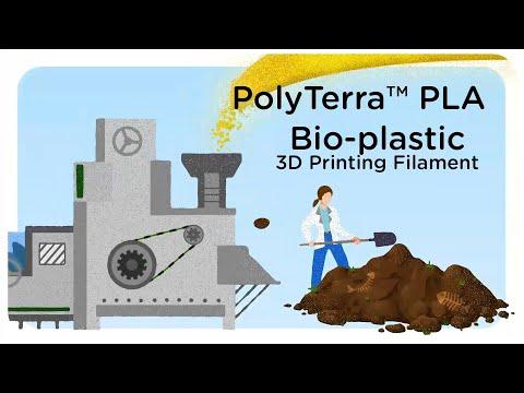 Bio-plastic 3D printing filament