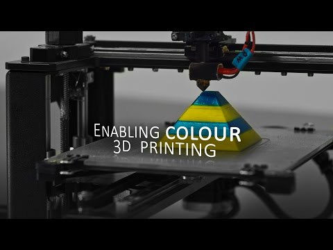Mosaic Manufacturing: Multi-colour 3D printing with one extruder