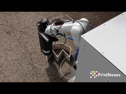 Printstones mobile concrete 3d printing