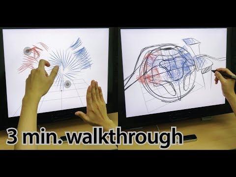 Agile 3D sketching with air scaffolding (CHI 2018) - 3 min. walkthrough