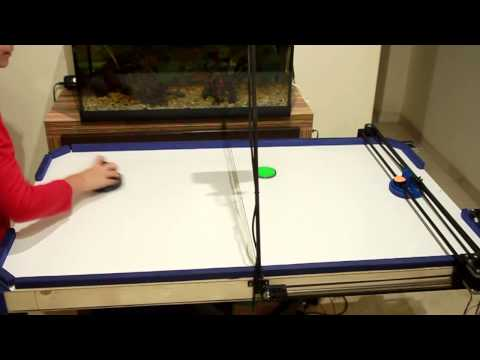 Air Hockey Robot Project (a 3D printer hack) by JJROBOTS
