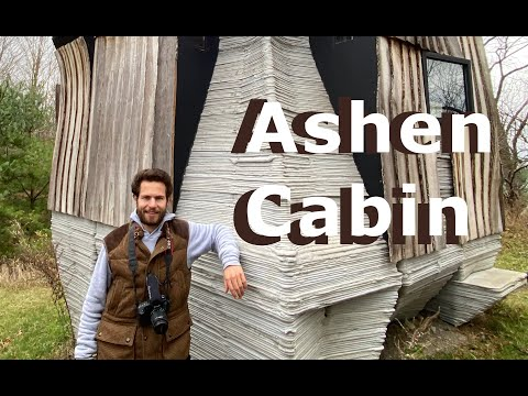 """Ashen Cabin By Cornell Using 3D Printed Concrete and a Robotic Arm Milling Saw For """"Unusable"""" Lumber"""