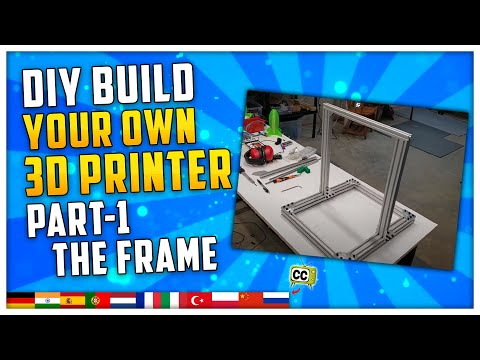 DIY 3D Printer Build Your Own - Part 1 The Frame (Cheap but solid quality build!)