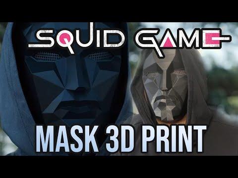 Squid Game Front Man Leader Mask Cosplay DIY 3D Print! Netflix