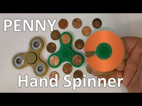 3D Printed Penny Hand Spinner - Fidget Toys