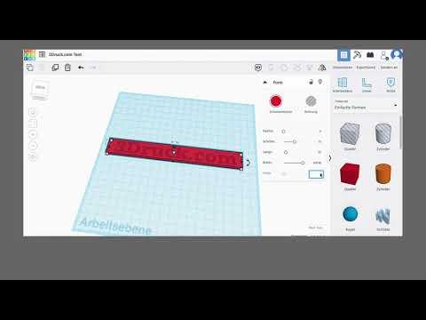 Tutorial: Eigene Text mit dem 3D-Drucker drucken (3D-Druck für Anfänger)