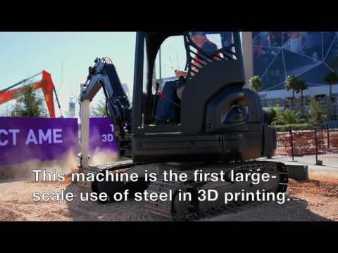 World's first 3D printed excavator unveiled at ConExpo 2017