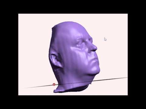 3d scan of my head using David Laser Scanner (Structured Light Scanning)
