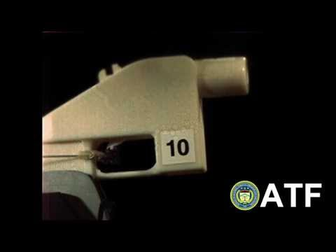 ATF test of 3-D printed firearm using ABS material (Side View)