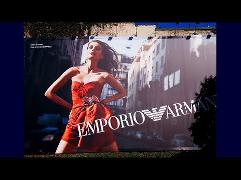 Uniquely Creative Out Of Home Advertising 3D Printed Billboard For Armani