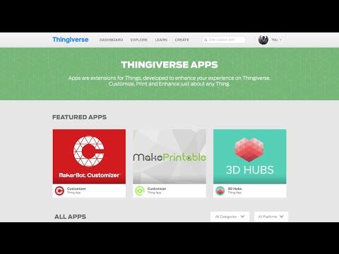 Thingiverse API Platform & Developer Program