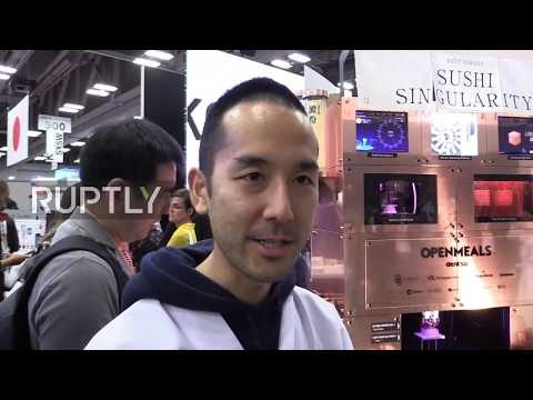 USA: Tokyo brings 3D-PRINTED SUSHI to SXSW