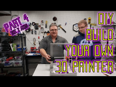 Build Your Own DIY 3D Printer Kit at home - Part 4 : The Z Axis