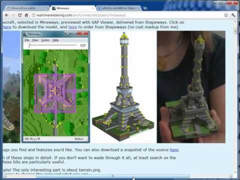Mineways Demo: Minecraft to Shapeways
