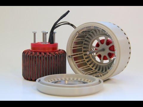 600 Watt, 3d-printed, Halbach Array, brushless DC electric Motor