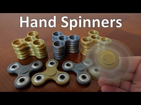 3D Printed Hand Spinners - Fidget Toys
