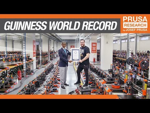 1096 3D printers running at the SAME TIME - Guinness World Record