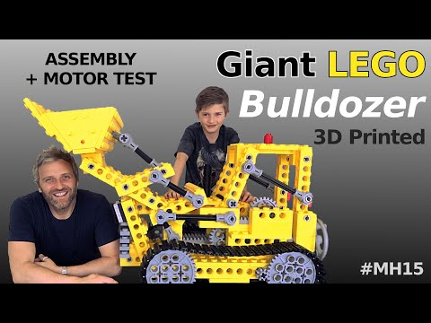 Giant LEGO Bulldozer - Mantis Hacks E15