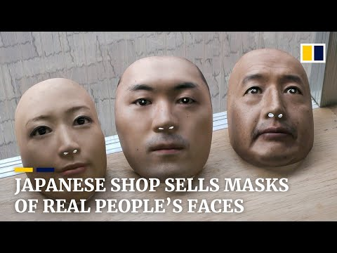 Japanese shop 'buys' real faces and turns them into masks