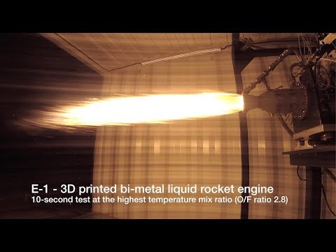 MILESTONE: Successful fire of our E-1 bi-metal highest performance 3D printed 🚀 rocket engine.