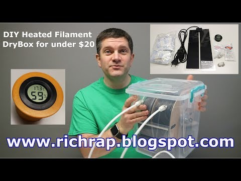 DIY Heated DryBox for 3D Printing filament - under $20 & MasterSpool Update