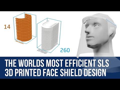 3DPRINTUK develops the worlds most efficient SLS 3D printed face shield