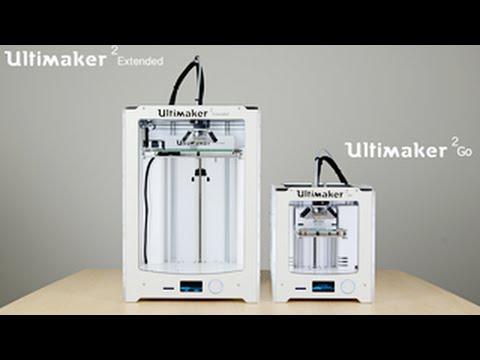 Ultimaker Extended & Ultimaker 2 Go 2015 - the first print by iGo3D.com