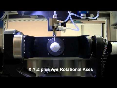 Optomec Aerosol Jet Printing in High Rez on a Golf Ball