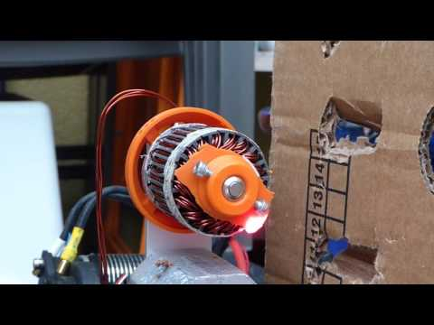 3d-printed brushless Motor - Explore max. RPM (make it explode)