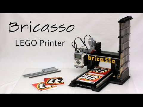 Working LEGO Printer - Printing the LEGO Logo