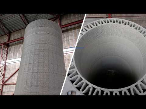 Developing wind turbine towers with 3D-printed concrete bases