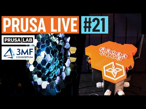 PrusaLab showcase, 3MF announcement, Organization design contest winners, SL1 fw - PRUSA LIVE #21