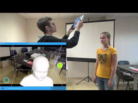 itSeez3d tutorial on face scanning with Structure Sensor or iSense