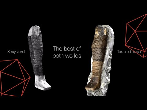 3D Model of Egyptian Mummy - Combining Optical & CT Scans