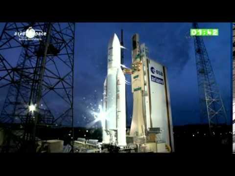 "Pt 3 Full Coverage - Ariane 5 rocket launches ATV 4 ""Albert Einstein"" Automated Transfer Vehicle 4"
