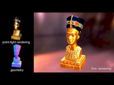 [SIGGRAPH Asia 2018] Practical SVBRDF Acquisition of 3D Objects with Unstructured Flash Photography,