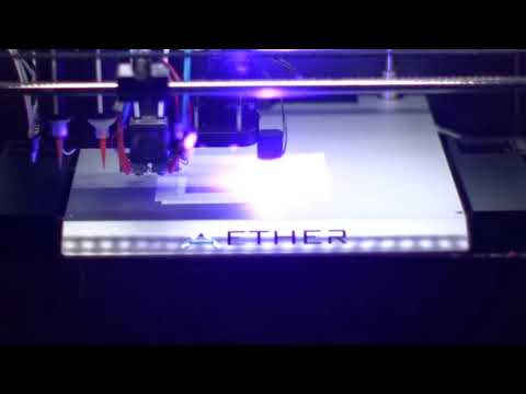 Aether 3D Printer Multi-tool Multi-material Demo - Microfluidic Chip
