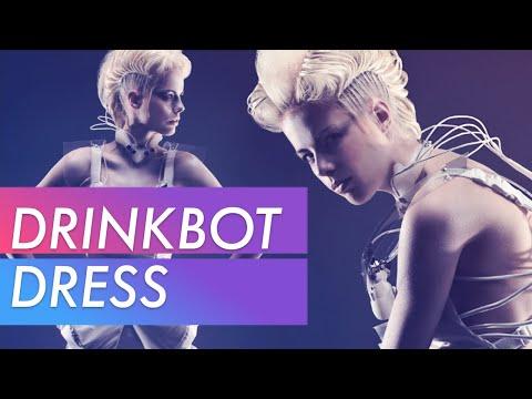 Anouk Wipprecht's Drinkbot Dress in Toronto