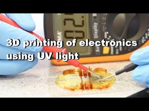 3D inkjet printing of electronics using UV irradiation - demonstrator