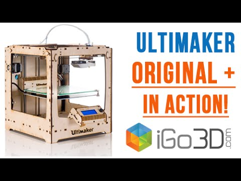 Ultimaker Original Plus 3D-Drucker in action - hands on by iGo3D