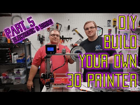 Build Your Own DIY 3D Printer - Part 5 : Electronics & 3D Printer Wiring