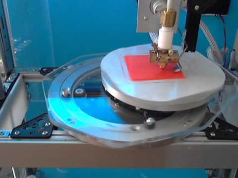 Polar-Scara: Test Printing a pyramid - experimental - not for practical use.